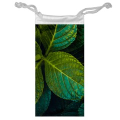 Green Plant Leaf Foliage Nature Jewelry Bag by Nexatart