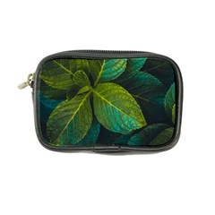 Green Plant Leaf Foliage Nature Coin Purse