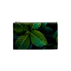 Green Plant Leaf Foliage Nature Cosmetic Bag (small)