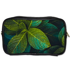 Green Plant Leaf Foliage Nature Toiletries Bags