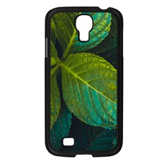 Green Plant Leaf Foliage Nature Samsung Galaxy S4 I9500/ I9505 Case (black) by Nexatart