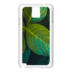 Green Plant Leaf Foliage Nature Samsung Galaxy Note 3 N9005 Case (white)