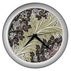 Pattern Decoration Retro Wall Clocks (silver)
