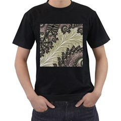 Pattern Decoration Retro Men s T Shirt (black) (two Sided)