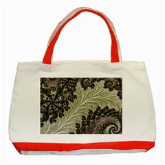 Pattern Decoration Retro Classic Tote Bag (red)