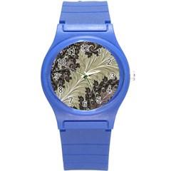 Pattern Decoration Retro Round Plastic Sport Watch (s)