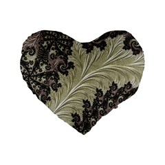 Pattern Decoration Retro Standard 16  Premium Heart Shape Cushions