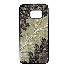 Pattern Decoration Retro Samsung Galaxy S7 Black Seamless Case