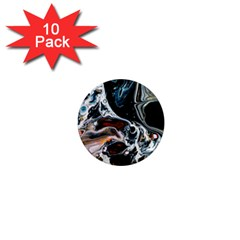 Abstract Flow River Black 1  Mini Magnet (10 Pack)