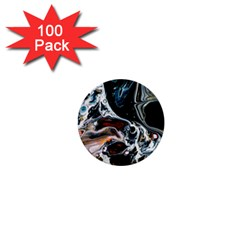 Abstract Flow River Black 1  Mini Buttons (100 Pack)