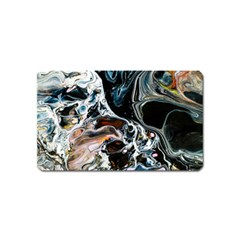 Abstract Flow River Black Magnet (name Card)