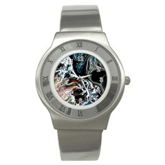 Abstract Flow River Black Stainless Steel Watch