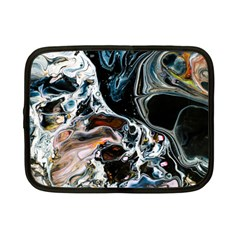 Abstract Flow River Black Netbook Case (small)