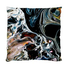 Abstract Flow River Black Standard Cushion Case (one Side)