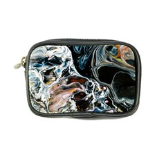 Abstract Flow River Black Coin Purse