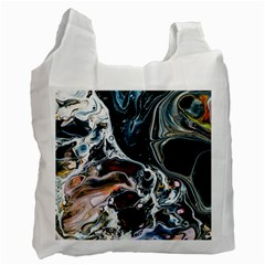 Abstract Flow River Black Recycle Bag (two Side)