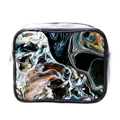 Abstract Flow River Black Mini Toiletries Bags