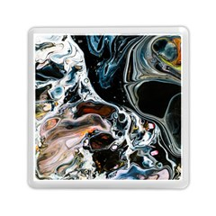 Abstract Flow River Black Memory Card Reader (square)  by Nexatart