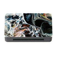 Abstract Flow River Black Memory Card Reader With Cf