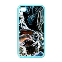 Abstract Flow River Black Apple Iphone 4 Case (color)