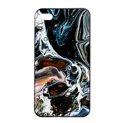Abstract Flow River Black Apple Iphone 4/4s Seamless Case (black)