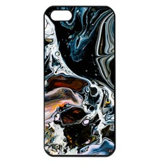 Abstract Flow River Black Apple Iphone 5 Seamless Case (black)