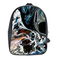 Abstract Flow River Black School Bag (xl)