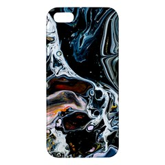 Abstract Flow River Black Apple Iphone 5 Premium Hardshell Case