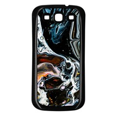 Abstract Flow River Black Samsung Galaxy S3 Back Case (black)