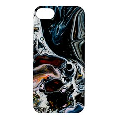 Abstract Flow River Black Apple Iphone 5s/ Se Hardshell Case