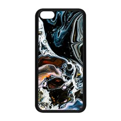 Abstract Flow River Black Apple Iphone 5c Seamless Case (black)