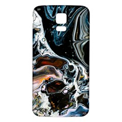 Abstract Flow River Black Samsung Galaxy S5 Back Case (white)