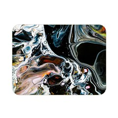 Abstract Flow River Black Double Sided Flano Blanket (mini)