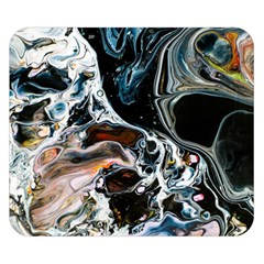 Abstract Flow River Black Double Sided Flano Blanket (small)
