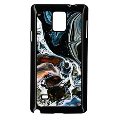 Abstract Flow River Black Samsung Galaxy Note 4 Case (black)