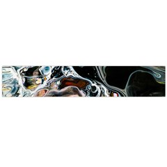 Abstract Flow River Black Large Flano Scarf