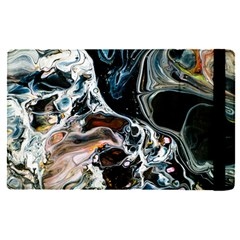 Abstract Flow River Black Apple Ipad Pro 12 9   Flip Case