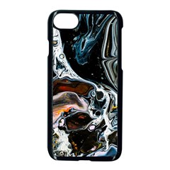 Abstract Flow River Black Apple Iphone 7 Seamless Case (black)