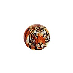 Tiger Portrait Art Abstract 1  Mini Magnets