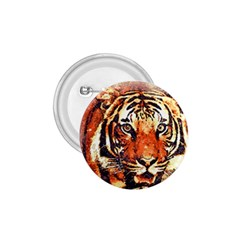 Tiger Portrait Art Abstract 1 75  Buttons