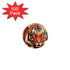 Tiger Portrait Art Abstract 1  Mini Magnets (100 Pack)  by Nexatart