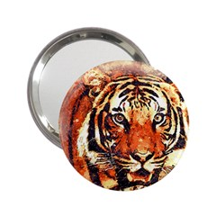 Tiger Portrait Art Abstract 2 25  Handbag Mirrors by Nexatart
