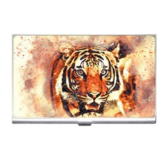 Tiger Portrait Art Abstract Business Card Holders