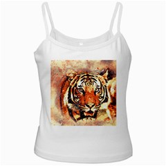 Tiger Portrait Art Abstract Ladies Camisoles