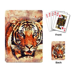 Tiger Portrait Art Abstract Playing Card