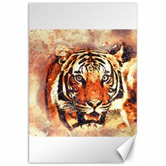 Tiger Portrait Art Abstract Canvas 20  X 30