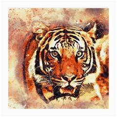 Tiger Portrait Art Abstract Medium Glasses Cloth