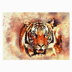 Tiger Portrait Art Abstract Large Glasses Cloth (2 Side)
