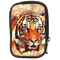 Tiger Portrait Art Abstract Compact Camera Cases