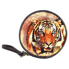 Tiger Portrait Art Abstract Classic 20 Cd Wallets